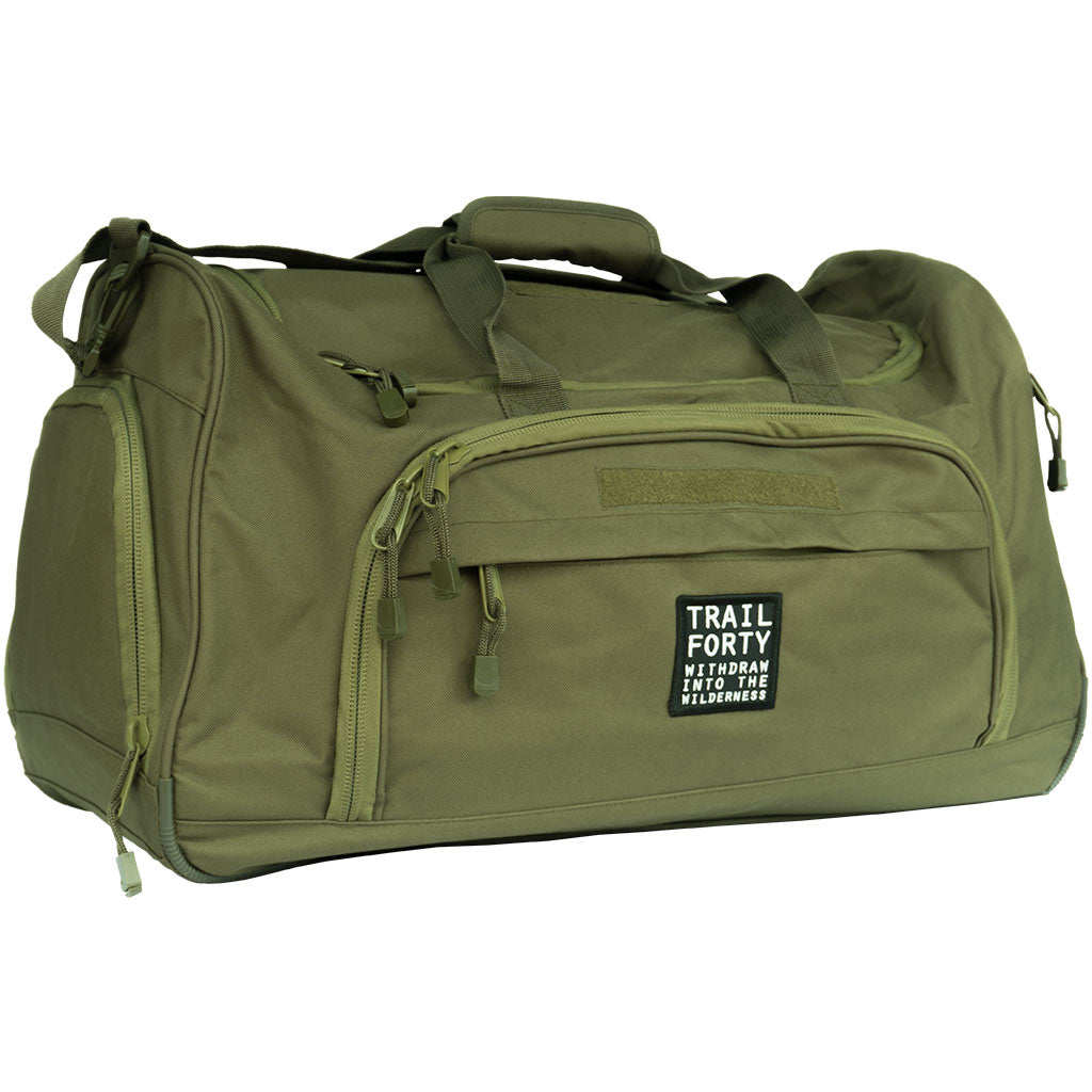 TRAIL FORTY | ETL | Duffel | Green | TRAIL FORTY | WITHDRAW INTO THE WILDERNESS | Luke 5:16 | TRAILFORTY.com