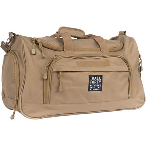 ETL Duffel | Tan | Faith inspired apparel and gear. Christian clothing and backpacks. T-Shirts, Sweatshirts, and Bags. TRAIL FORTY | WITHDRAW INTO THE WILDERNESS | Luke 5:16 | TRAILFORTY.com