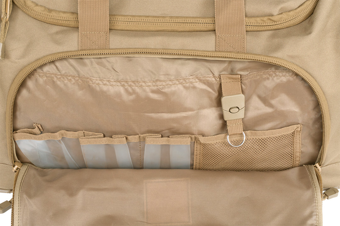 TRAIL FORTY | ETL Duffel | Tan | TRAIL FORTY | WITHDRAW INTO THE WILDERNESS | Luke 5:16 | TRAILFORTY.com