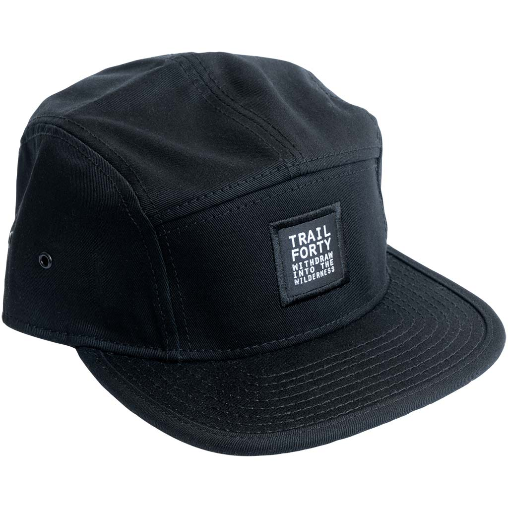 TRAIL FORTY | Camper Cap | Black | TRAIL FORTY | WITHDRAW INTO THE WILDERNESS | Luke 5:16 | TRAILFORTY.com