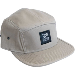 TRAIL FORTY | Camper Cap | Tan | TRAIL FORTY | WITHDRAW INTO THE WILDERNESS | Luke 5:16 | TRAILFORTY.com