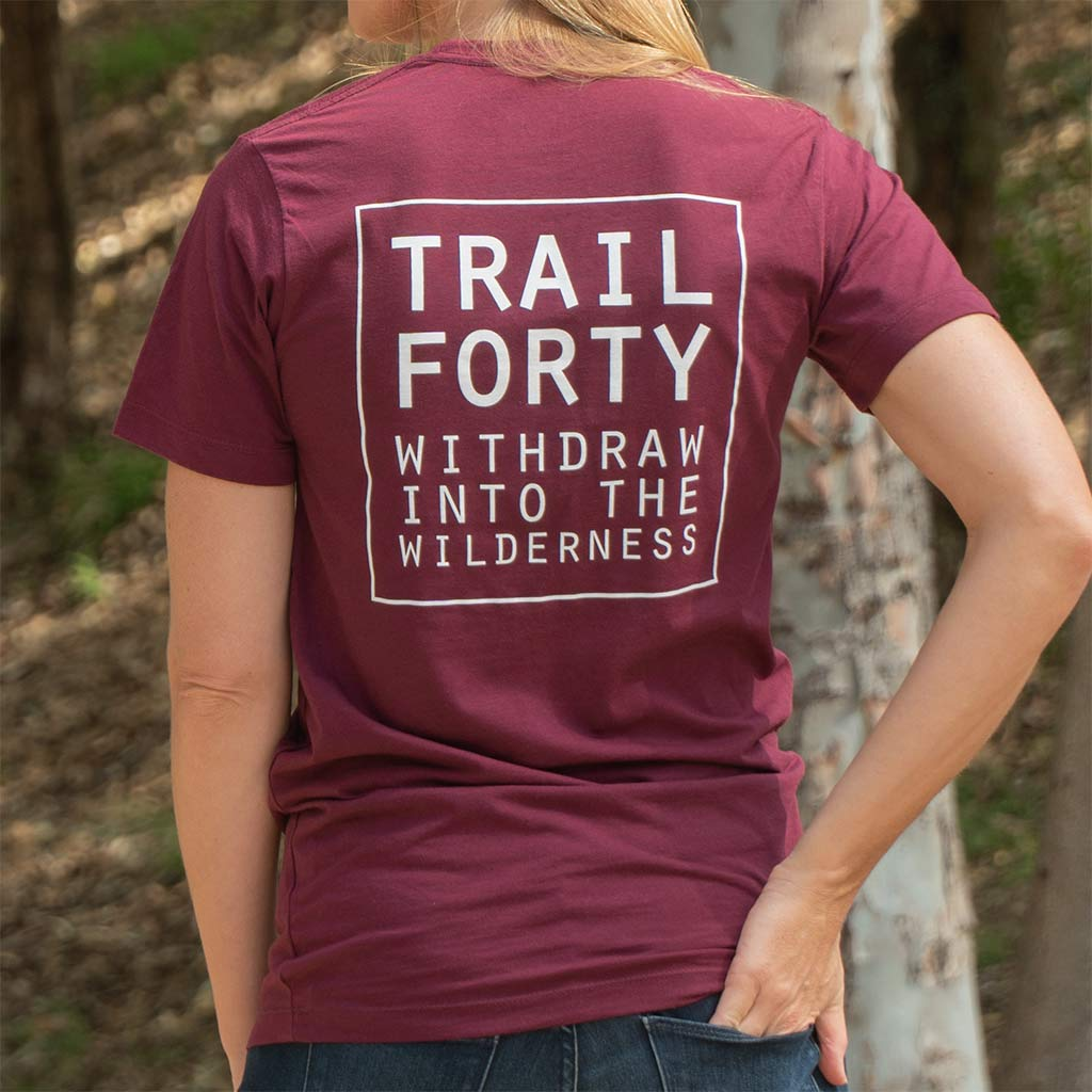 TRAIL FORTY | T-Shirt | Unisex | Maroon/White