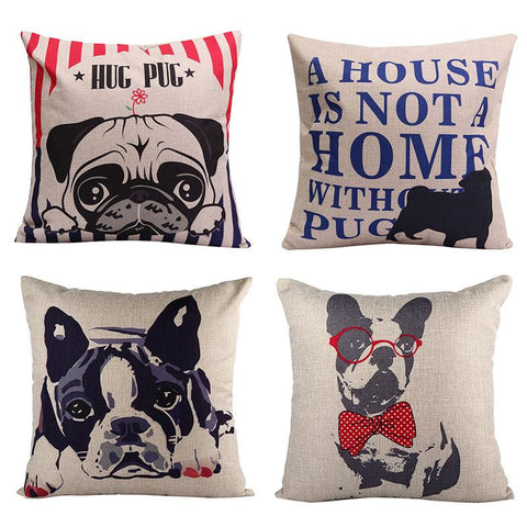 Lovely French Bulldog Pillow cover case 50 x 50cm 60% OFF