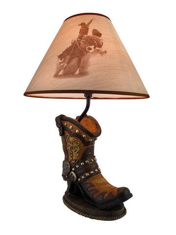 1Horse Table Lamp Western Boot 65% OFF