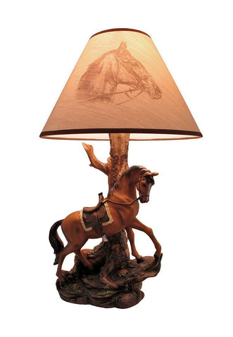 1Horse Table Lamp Saddled Horse 65% OFF
