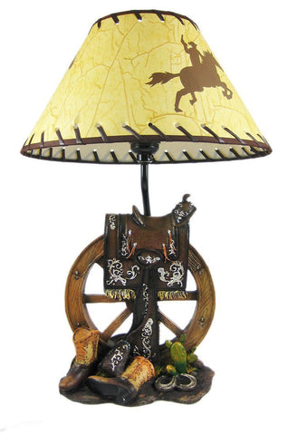1Horse Table Lamp Wagon Wheel 65% OFF