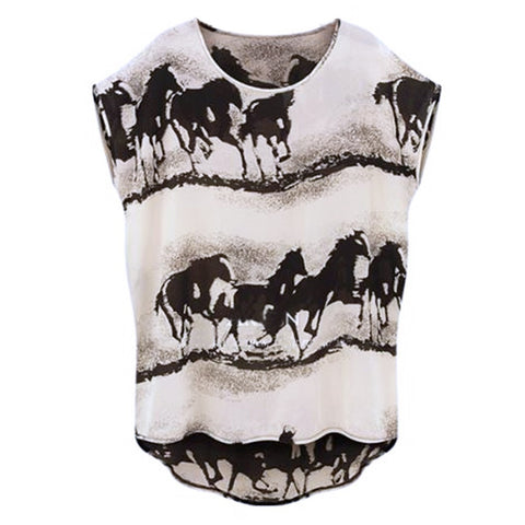 Black Unique Beautiful White Horses Shirt horse