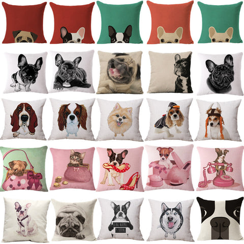 French Bulldogs Coloful Pillow Case Grab Shoes