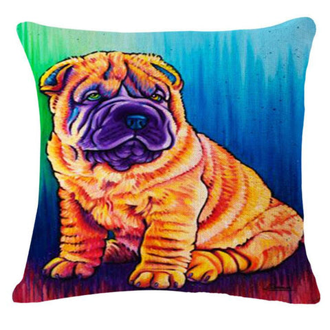 French Bulldog Pug Dog Pillow CASE Cushion Cotton