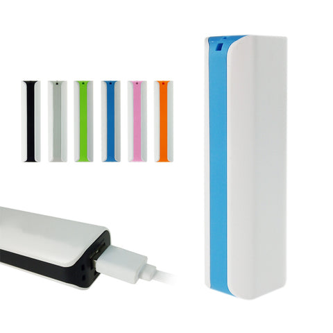 Useful 6 colors phone 2600mAh power bank external battery pack for iphone 6 5s 4s for Samsung S6 S5 S4 etc