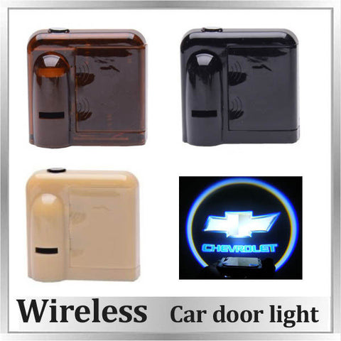 Door Light logo projector for Chevrolet Chevy Cruze Malibu Impala Sonic Spark Camaro SS Corvette Equinox Traverse Tahoe Captiva