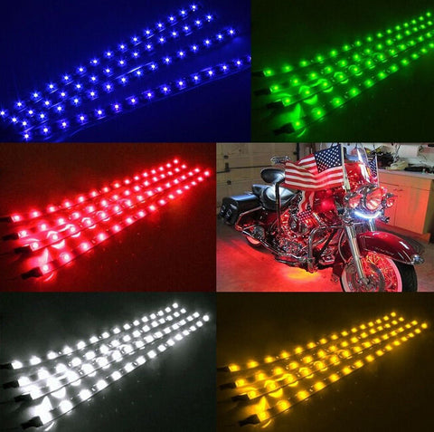 4pcs DC 12V Motor LED Strip Light For Car Motorcycle