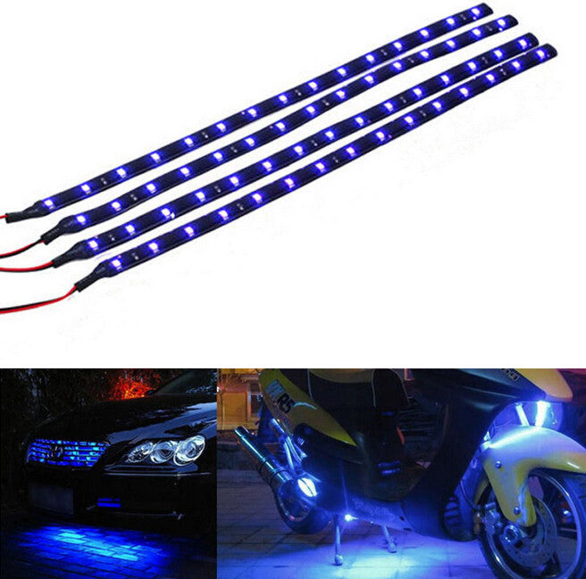 4pcs dc 12v motor led strip light for car motorcycle downtowntop 4pcs dc 12v motor led strip light for car motorcycle aloadofball Image collections