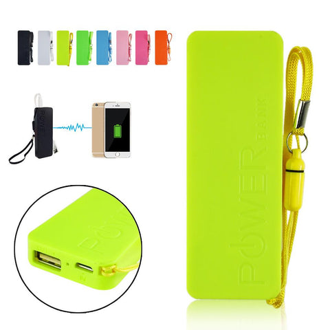 Portable Practical Ultra-thin 5600mAh Vivid colors mobile USB power bank