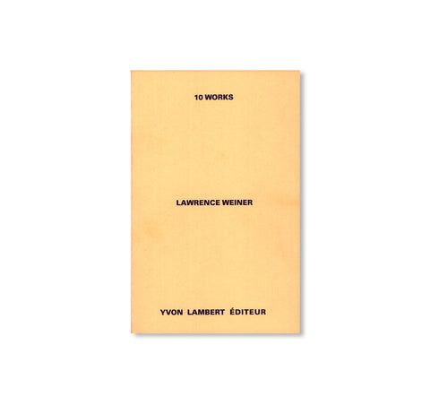 10 WORKS by Lawrence Weiner