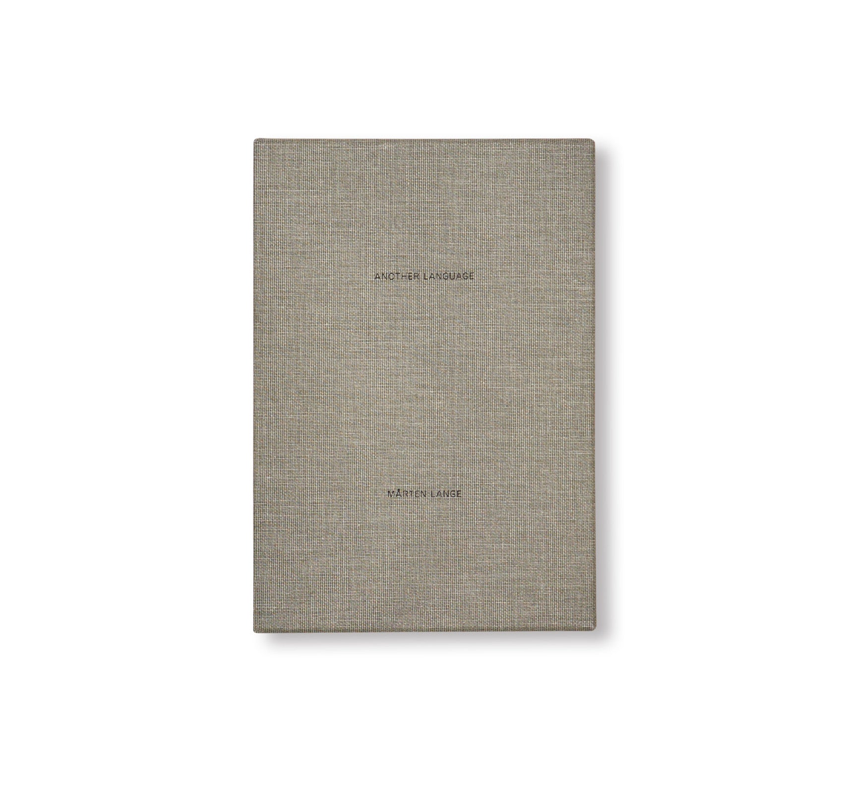 ANOTHER LANGUAGE by Mårten Lange [SPECIAL EDITION / SIGNED]