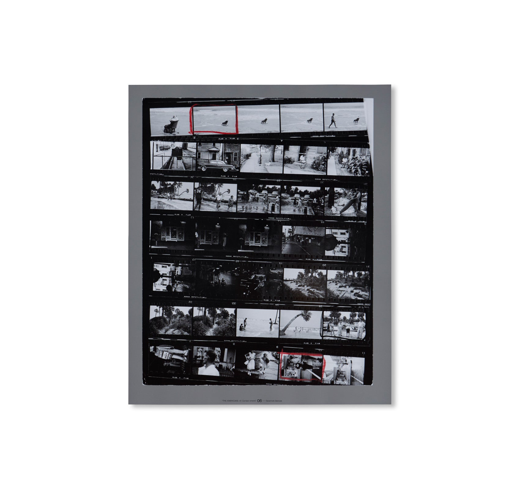 THE AMERICANS, 81 CONTACT SHEETS (FOLDING BOARD BOX) by Robert Frank
