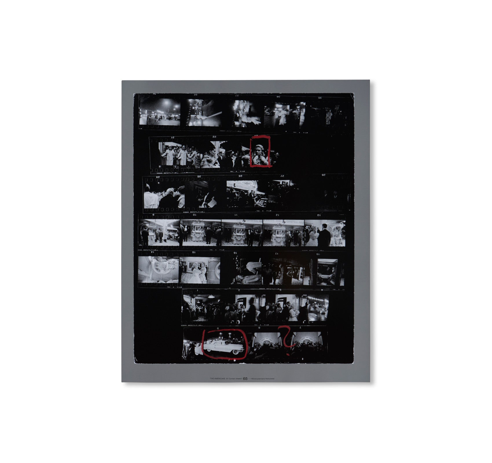 THE AMERICANS, 81 CONTACT SHEETS (FOLDING BOARD BOX) by Robert Frank [RARE]