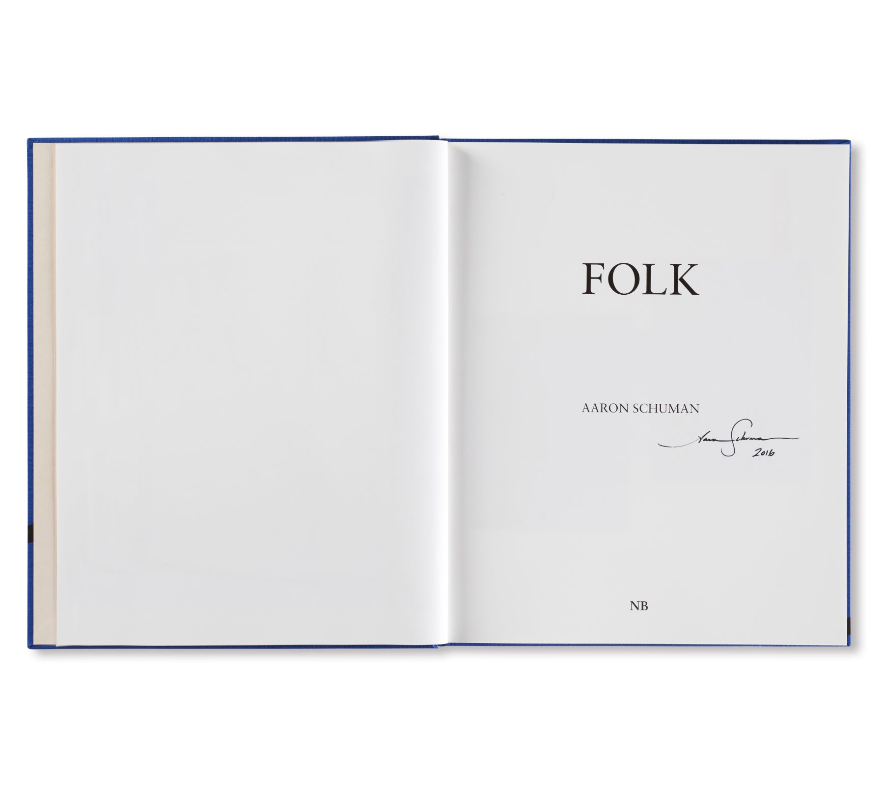 FOLK by Aaron Schuman [SIGNED]