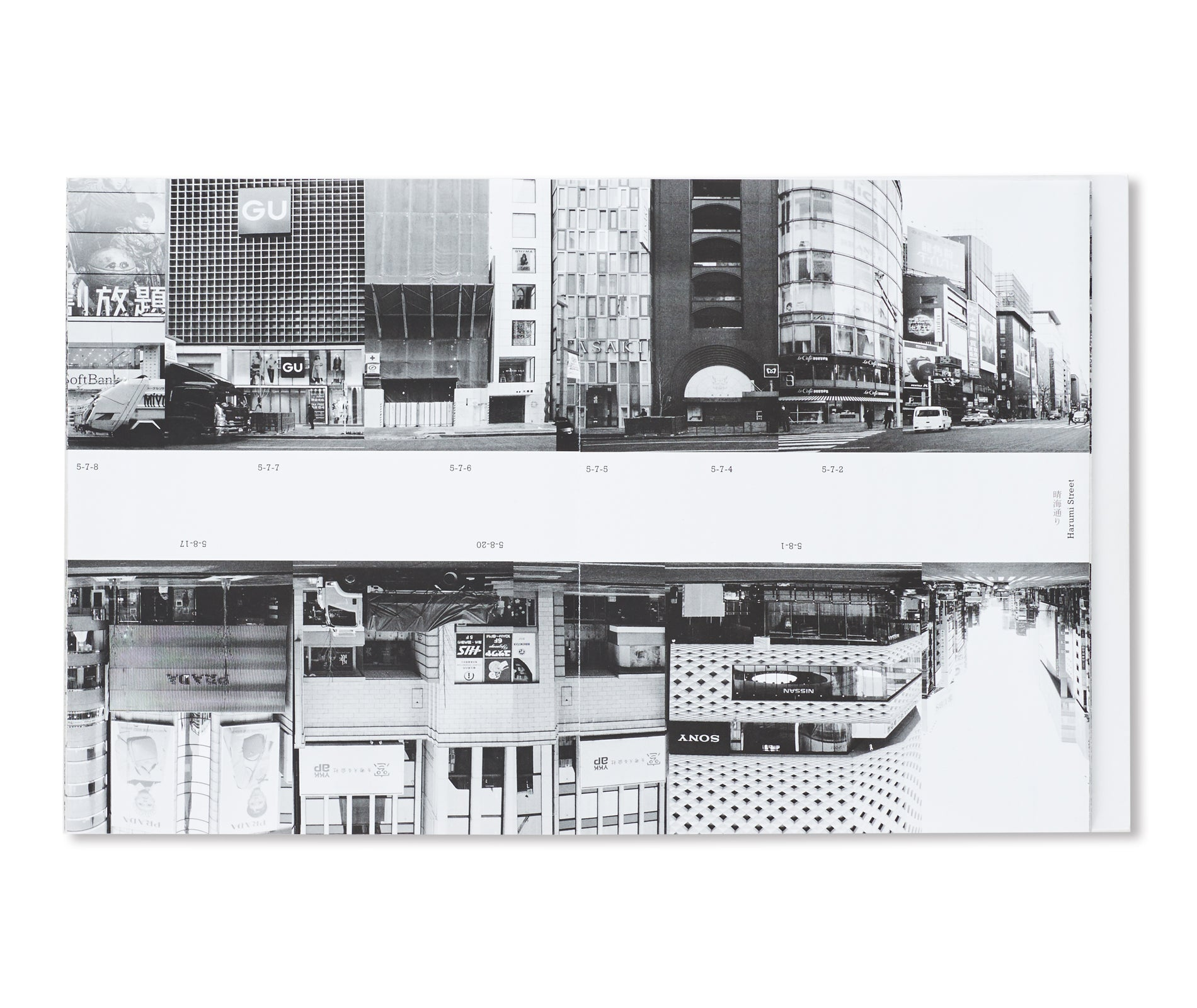 GINZA HACCHO / EVERY BUILDING ON THE GINZA STRIP by Michalis Pichler