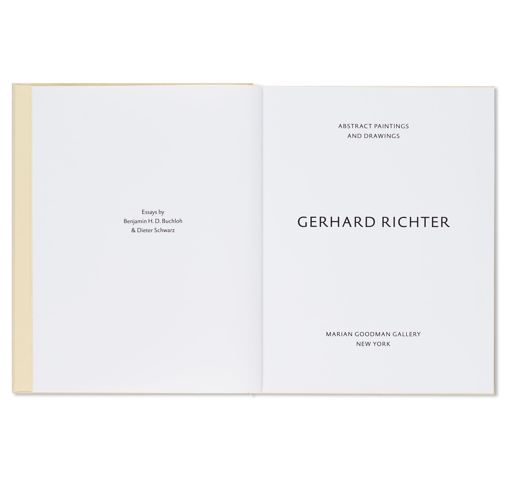 ABSTRACT PAINTINGS AND DRAWINGS by Gerhard Richter