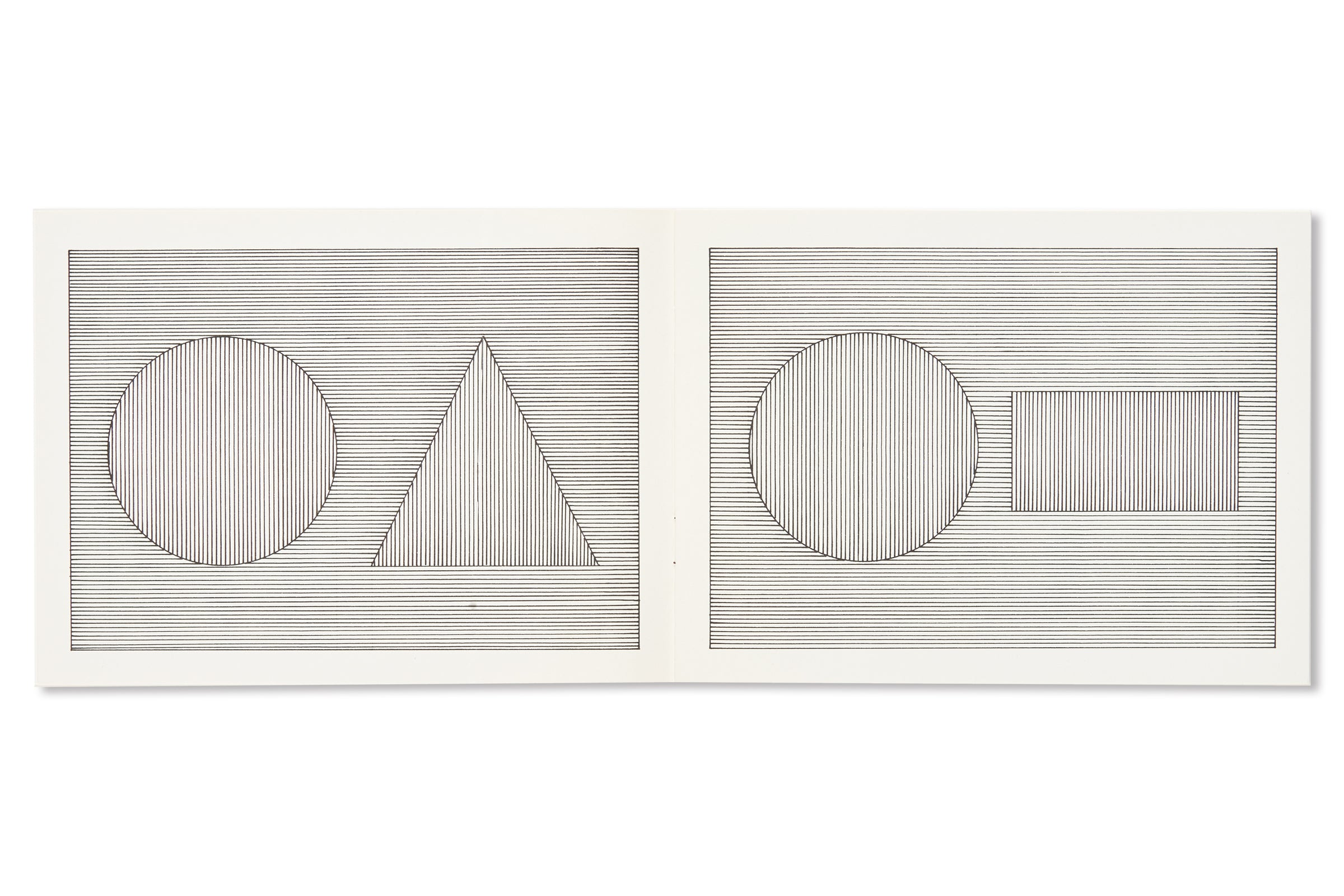 SIX GEOMETRIC FIGURES AND ALL THEIR DOUBLE COMBINATIONS by Sol LeWitt