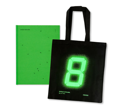 SKY OF TIME by Tatsuo Miyajima with TOTE BAG