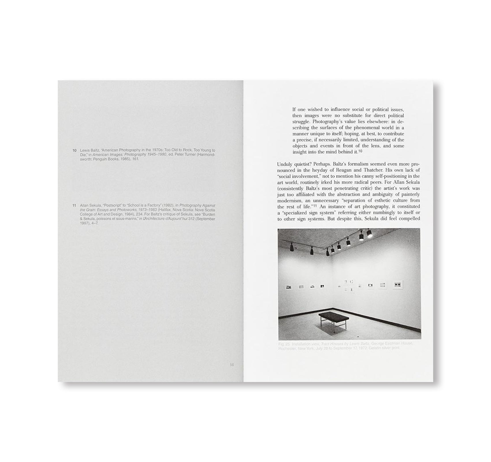 AN INTERVIEW WITH LEWIS BALTZ by Duncan Forbes