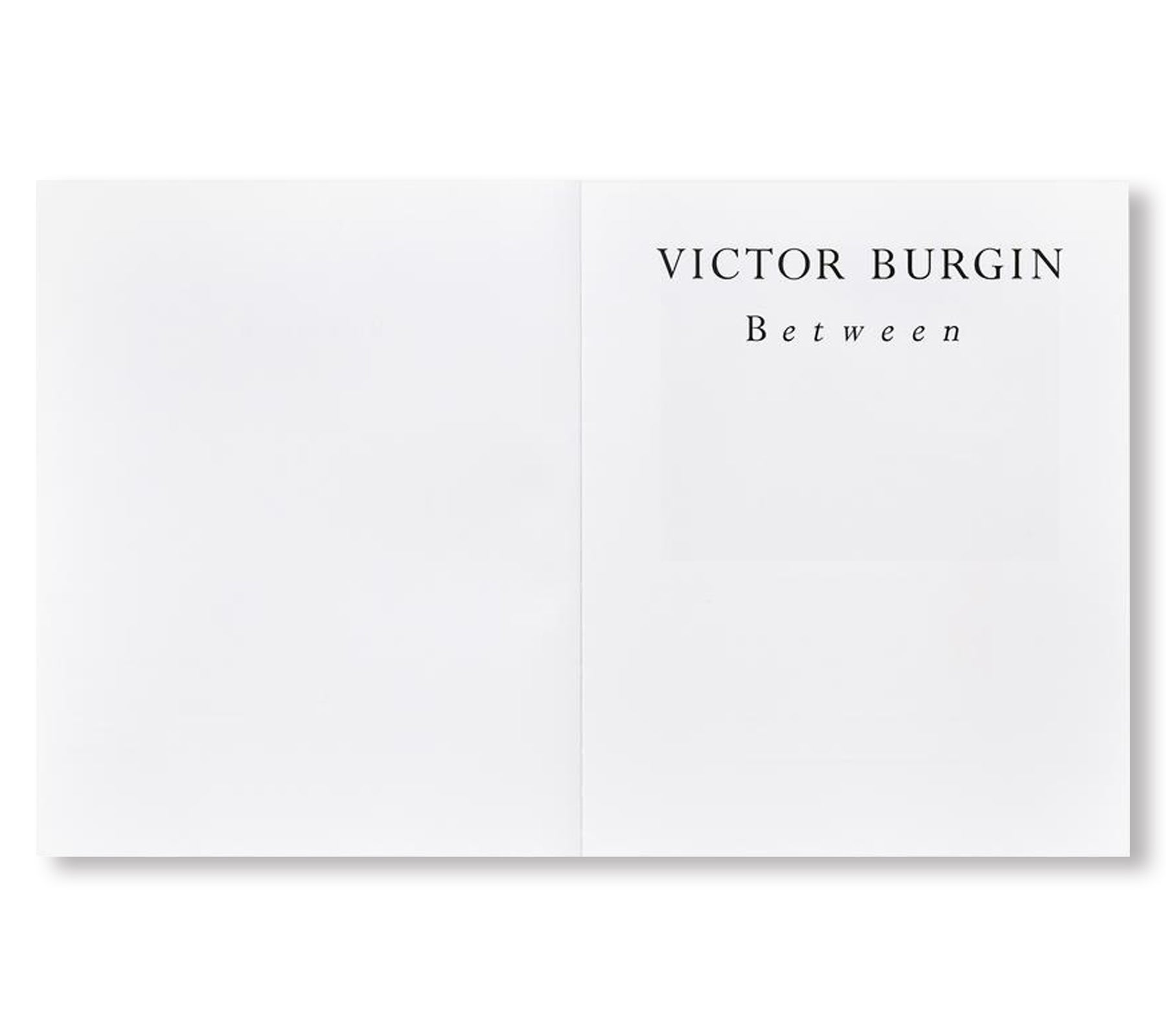 BETWEEN by Victor Burgin