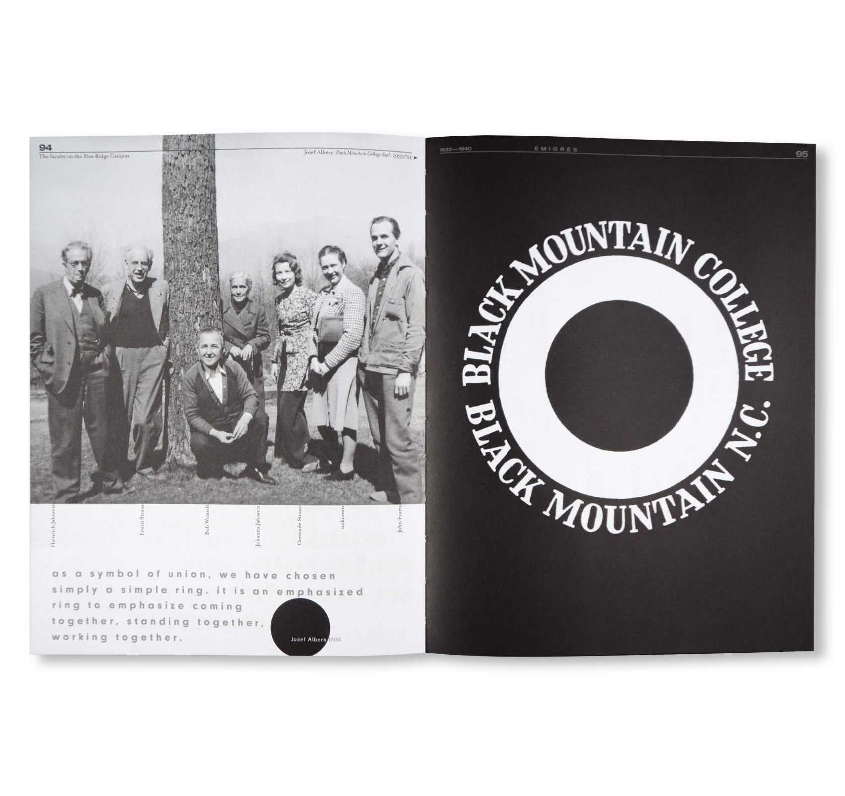 BLACK MOUNTAIN - AN INTERDISCIPLINARY EXPERIMENT 1933-1957