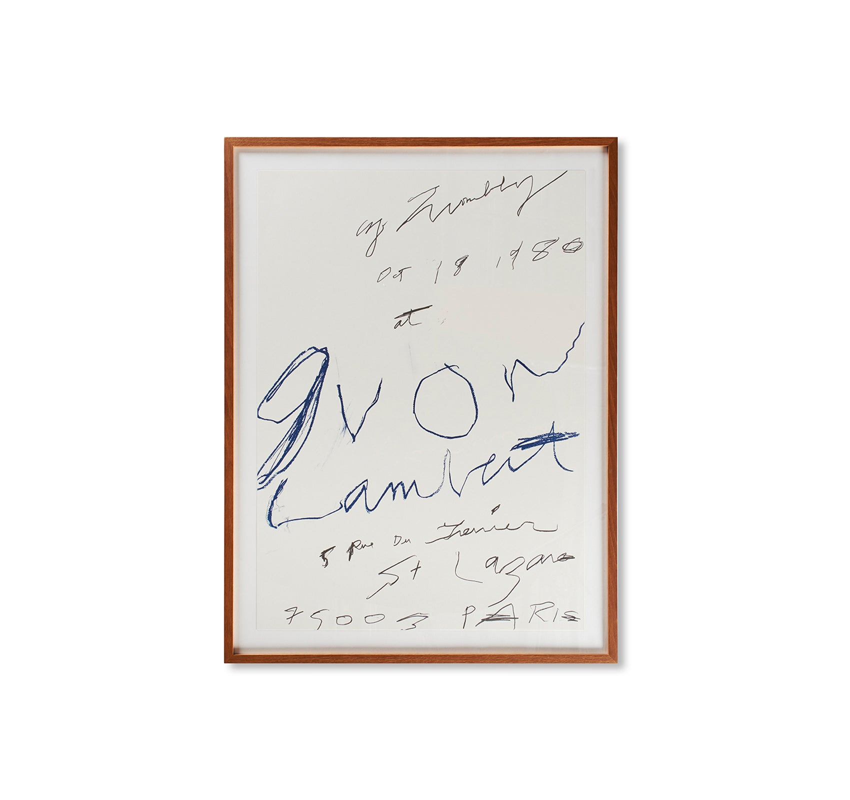 PRINT (1980) by Cy Twombly