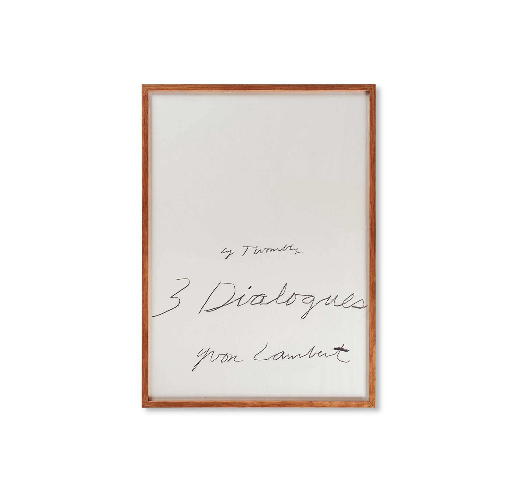 THREE DIALOGUES.1 PRINT (1977) by Cy Twombly