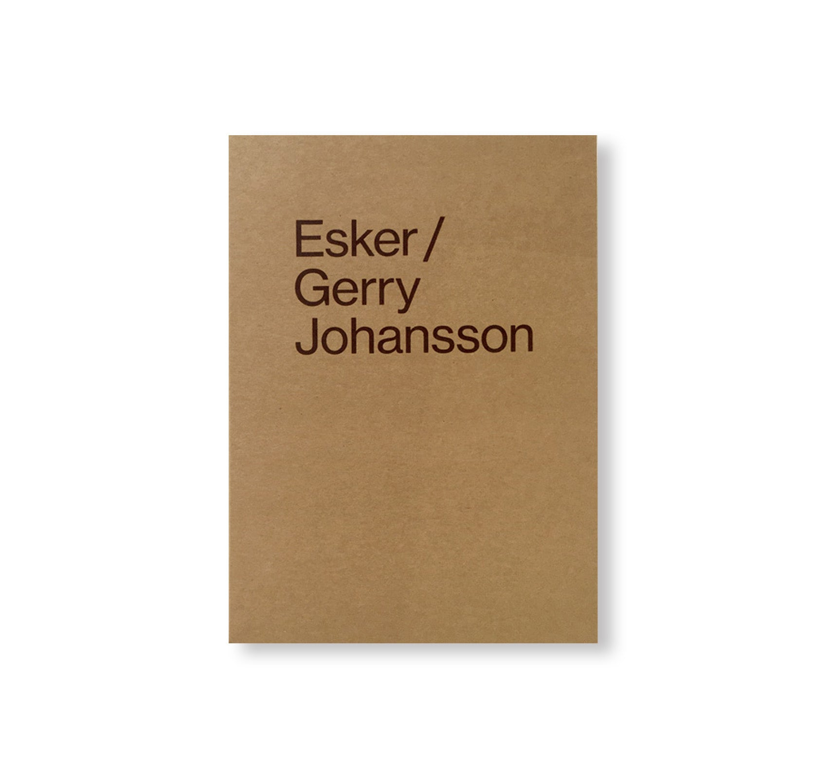 ESKER by Gerry Johansson [SIGNED]
