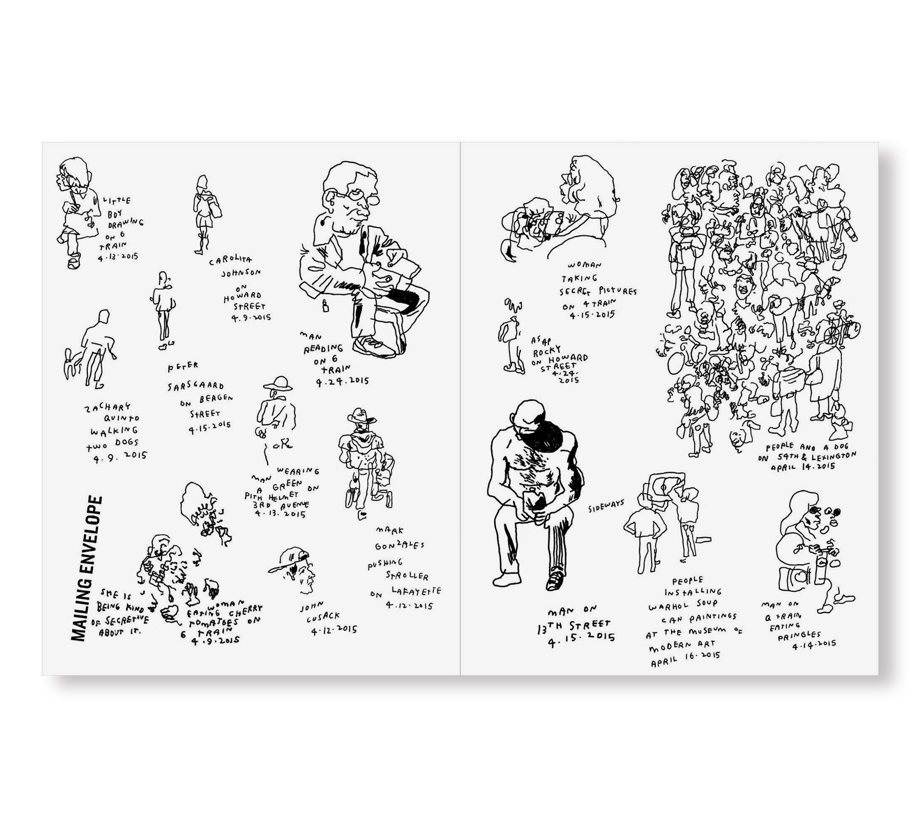 EVERY PERSON IN NEW YORK VOL 2 by Jason Polan