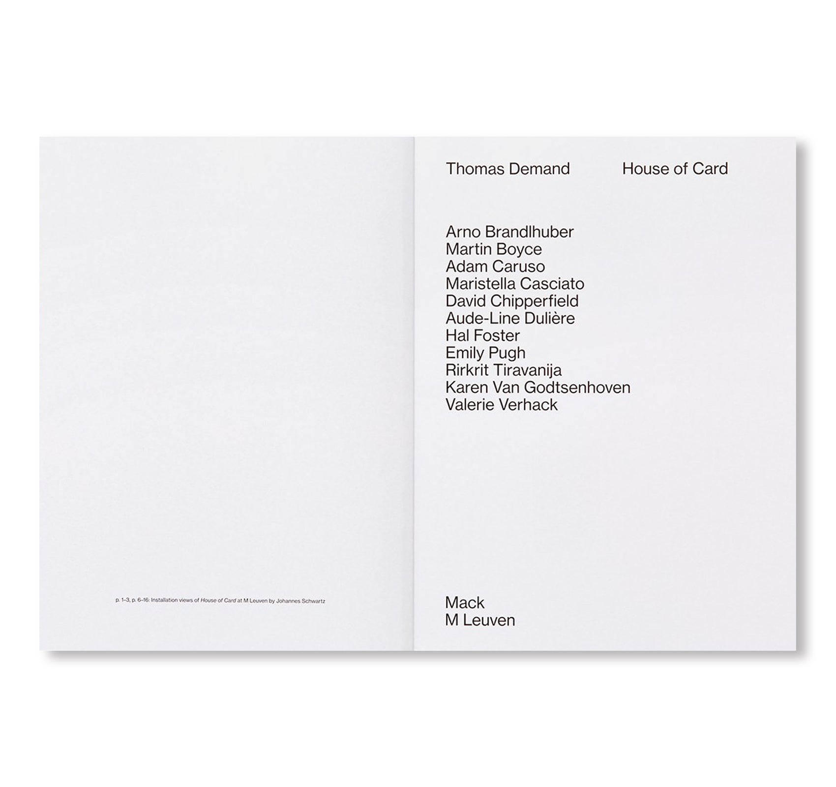 HOUSE OF CARD by Thomas Demand