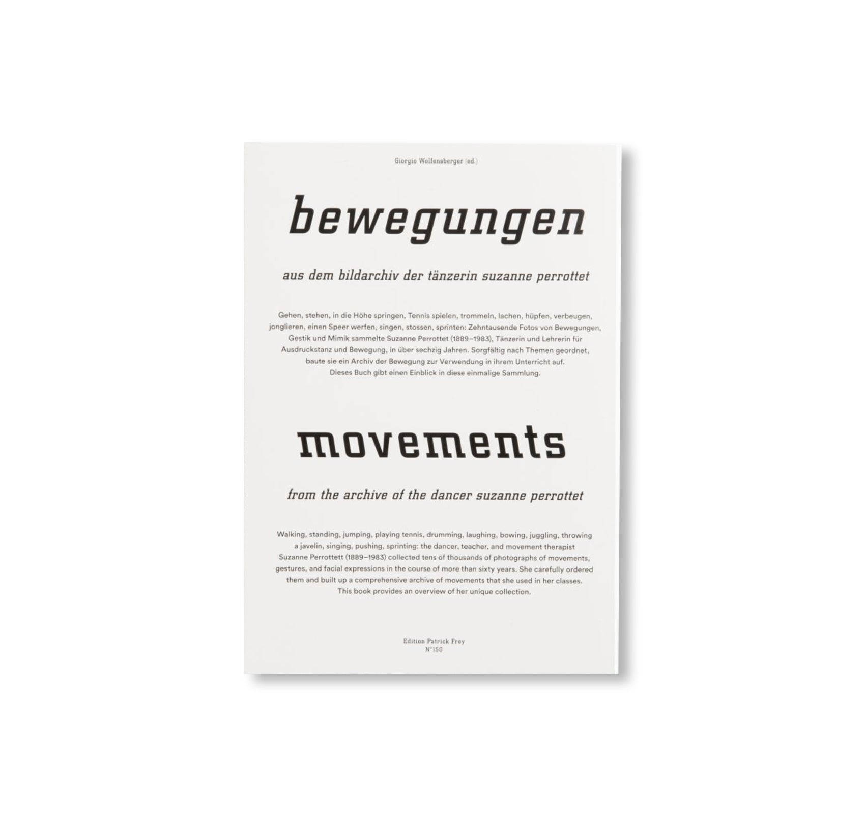 BEWEGUNGEN / MOVEMENTS by Suzanne Perrottet