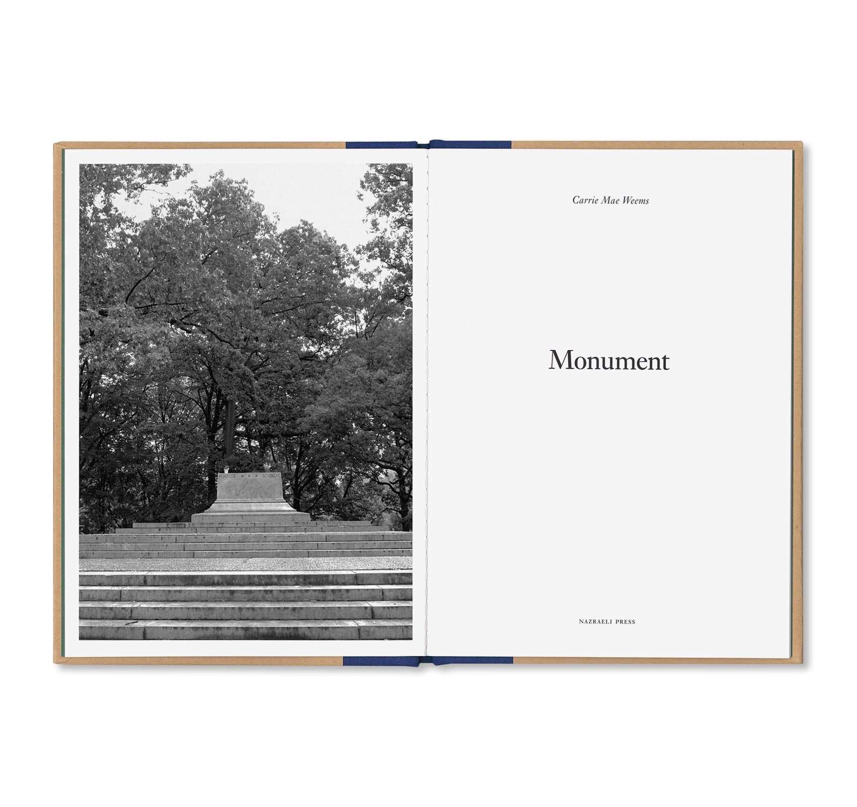 ONE PICTURE BOOK TWO #3: MONUMENT by Carrie Mae Weems