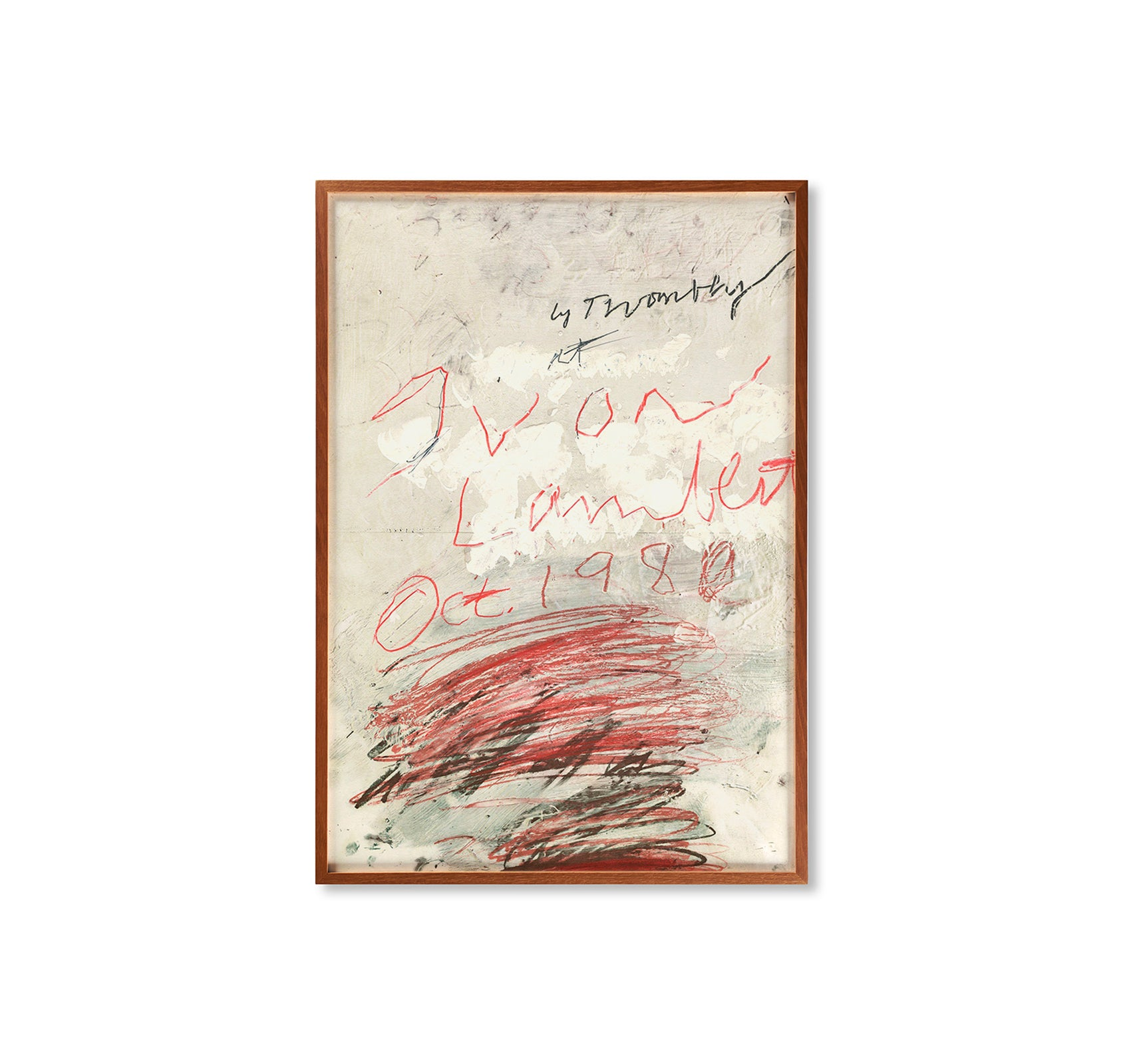 POSTER PROJECT (1980) by Cy Twombly