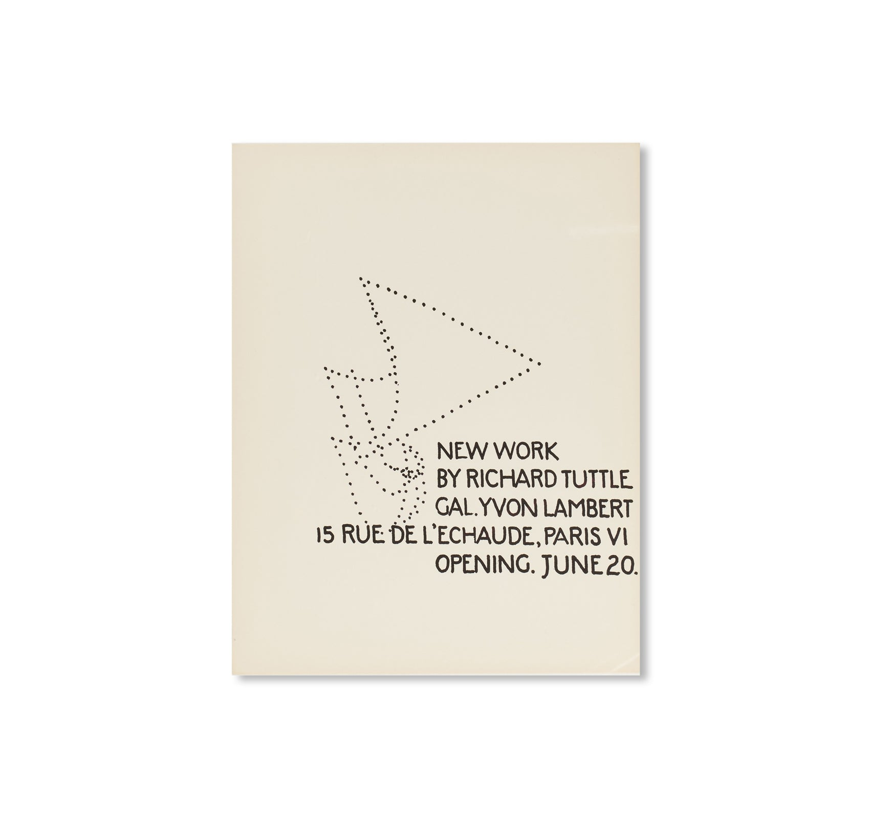 PRINT (1972) by Richard Tuttle