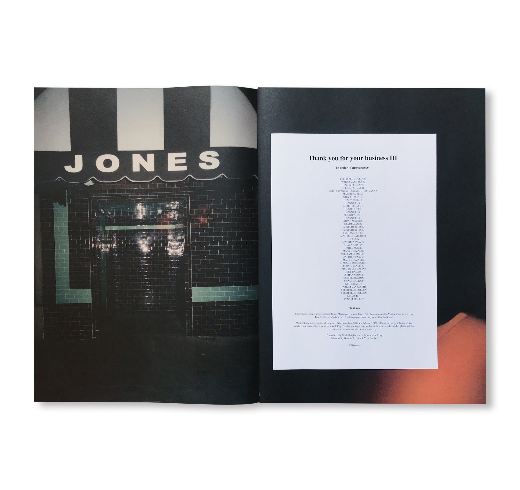 THANK YOU FOR YOUR BUSINESS Ⅲ by Quentin de Briey