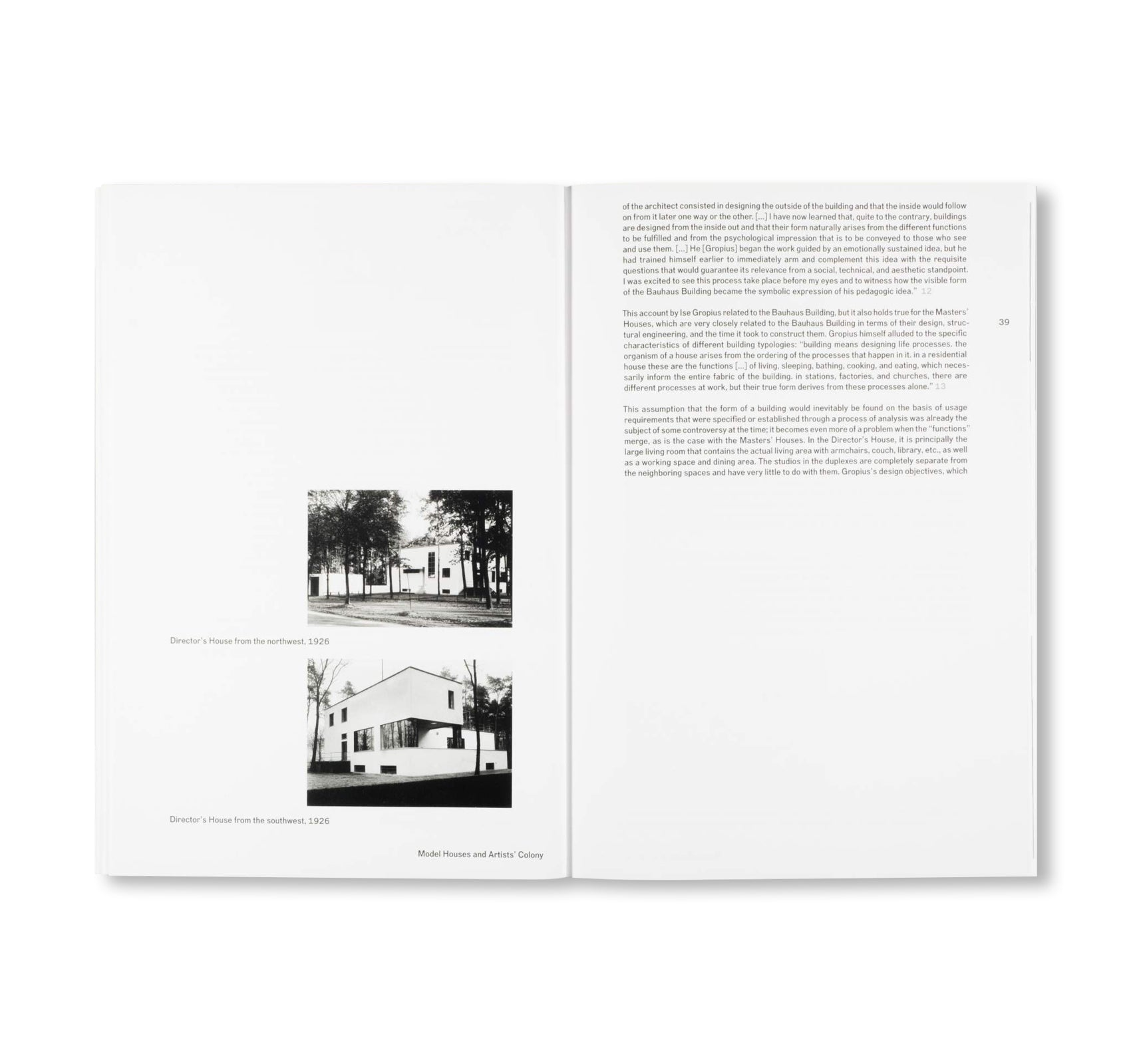 THE NEW MASTERS' HOUSES IN DESSAU / Edition Bauhaus 46 by Stiftung Bauhaus Dessau