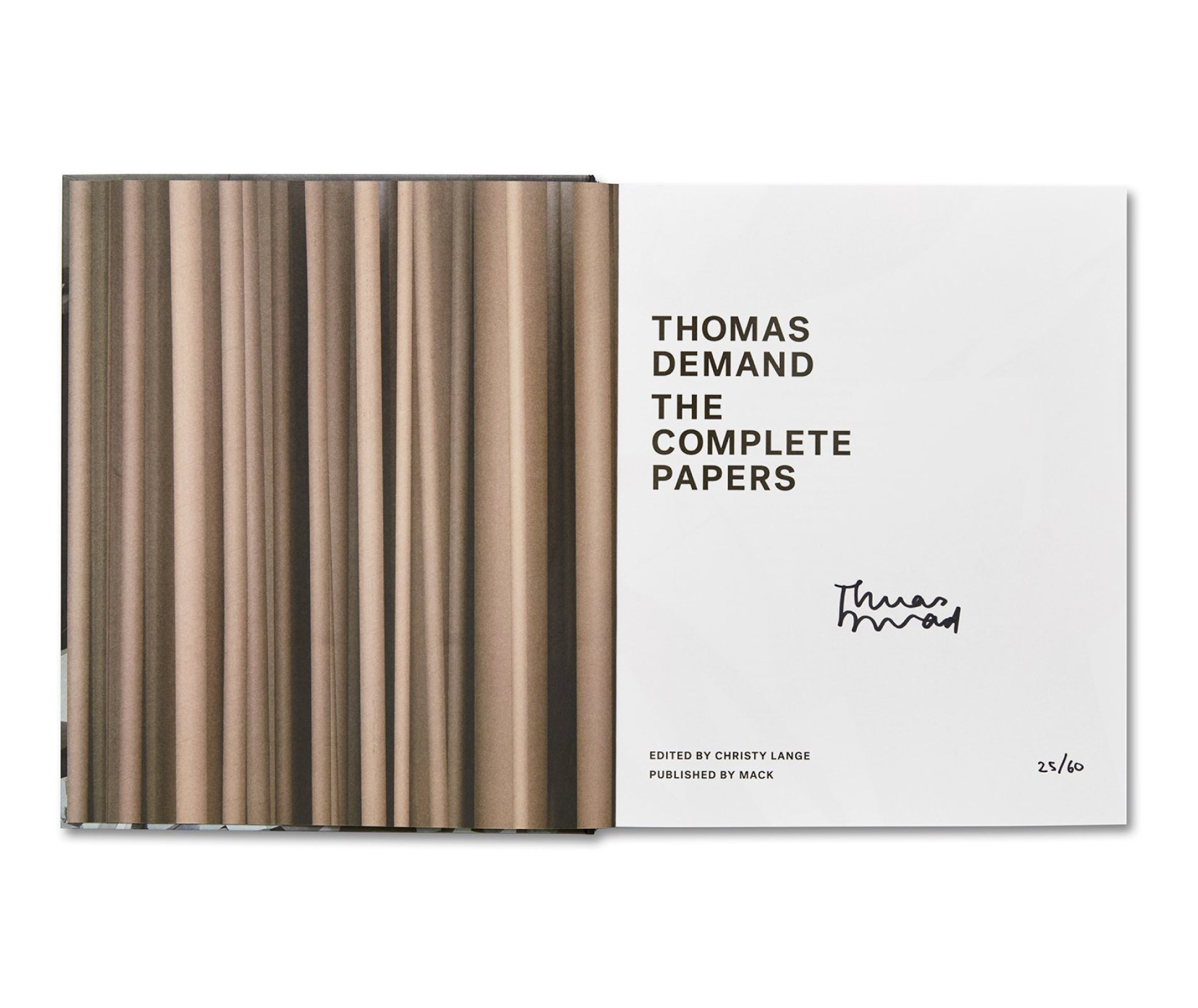 THE COMPLETE PAPERS by Thomas Demand [SPECIAL EDITION]
