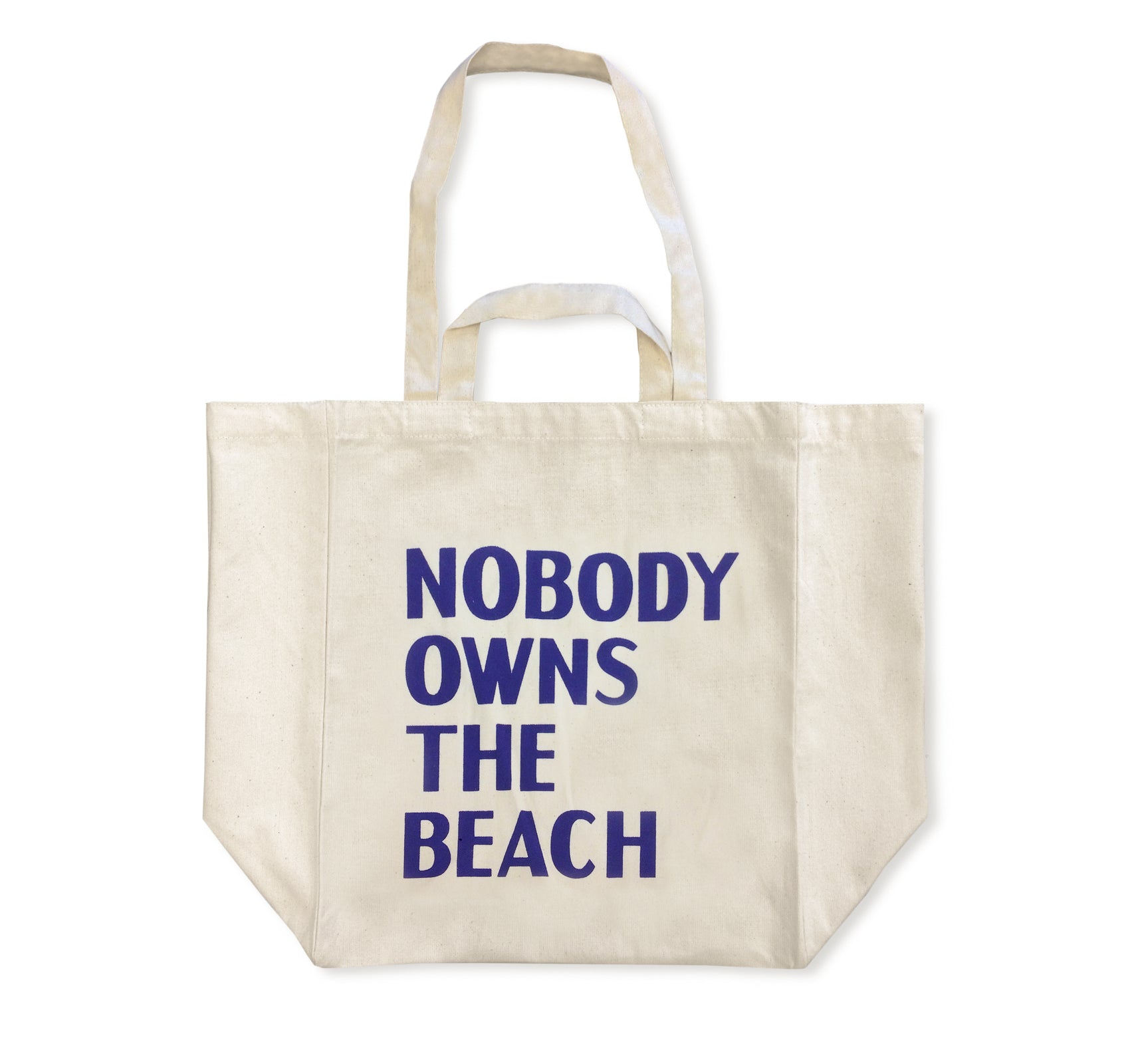 NOBODY OWNS THE BEACH TOTE BAG by David Horvitz