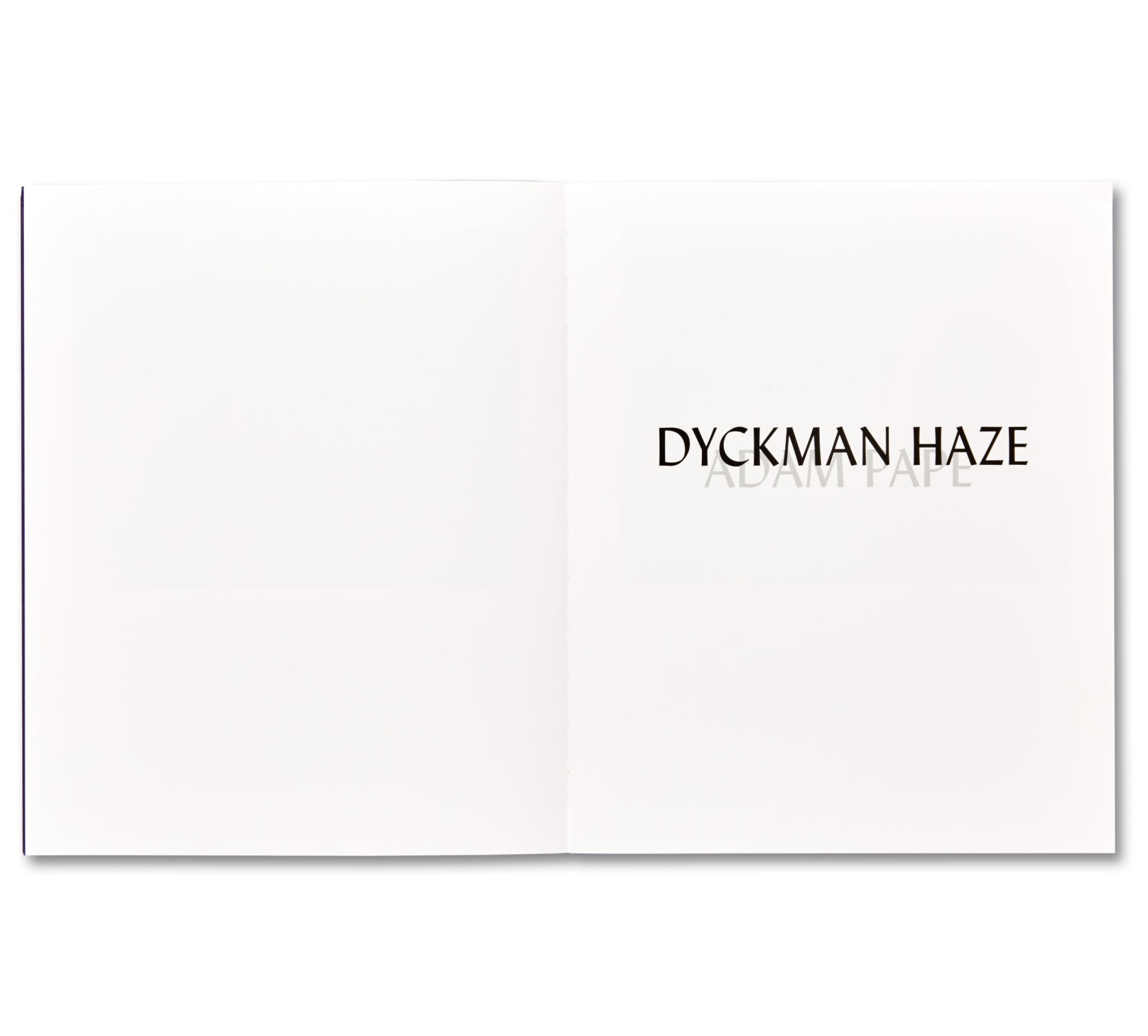 DYCKMAN HAZE by Adam Pape