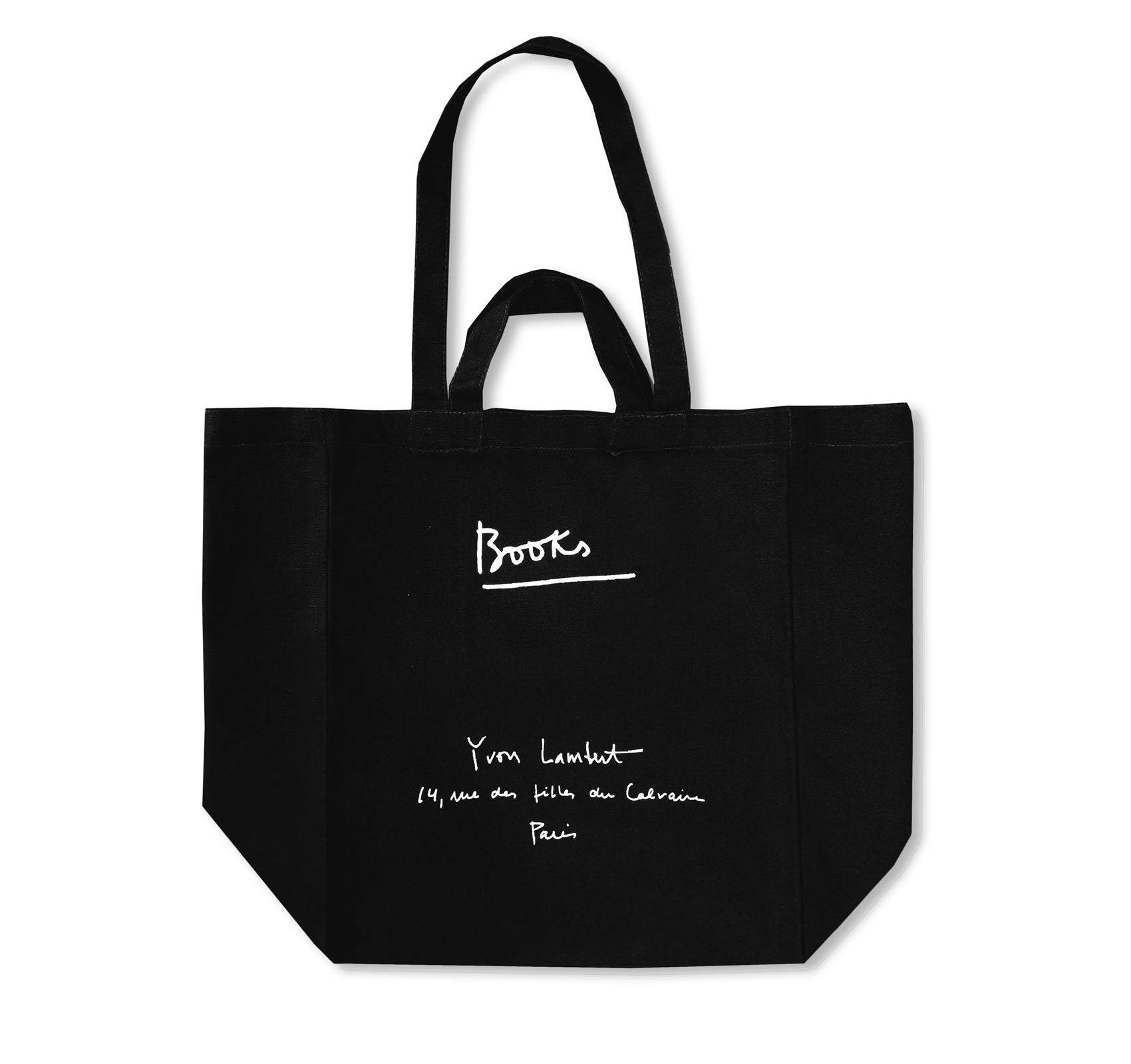 YVON LAMBERT TOTE BAG (LARGE / BLACK)