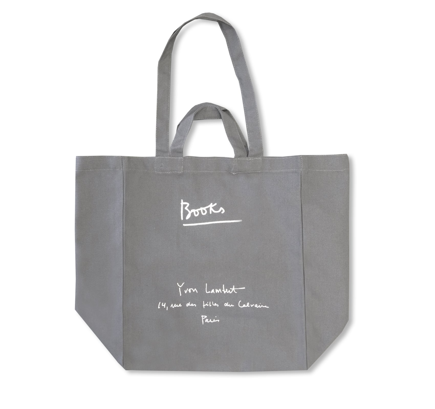 YVON LAMBERT TOTE BAG (LARGE / DARK GREY)