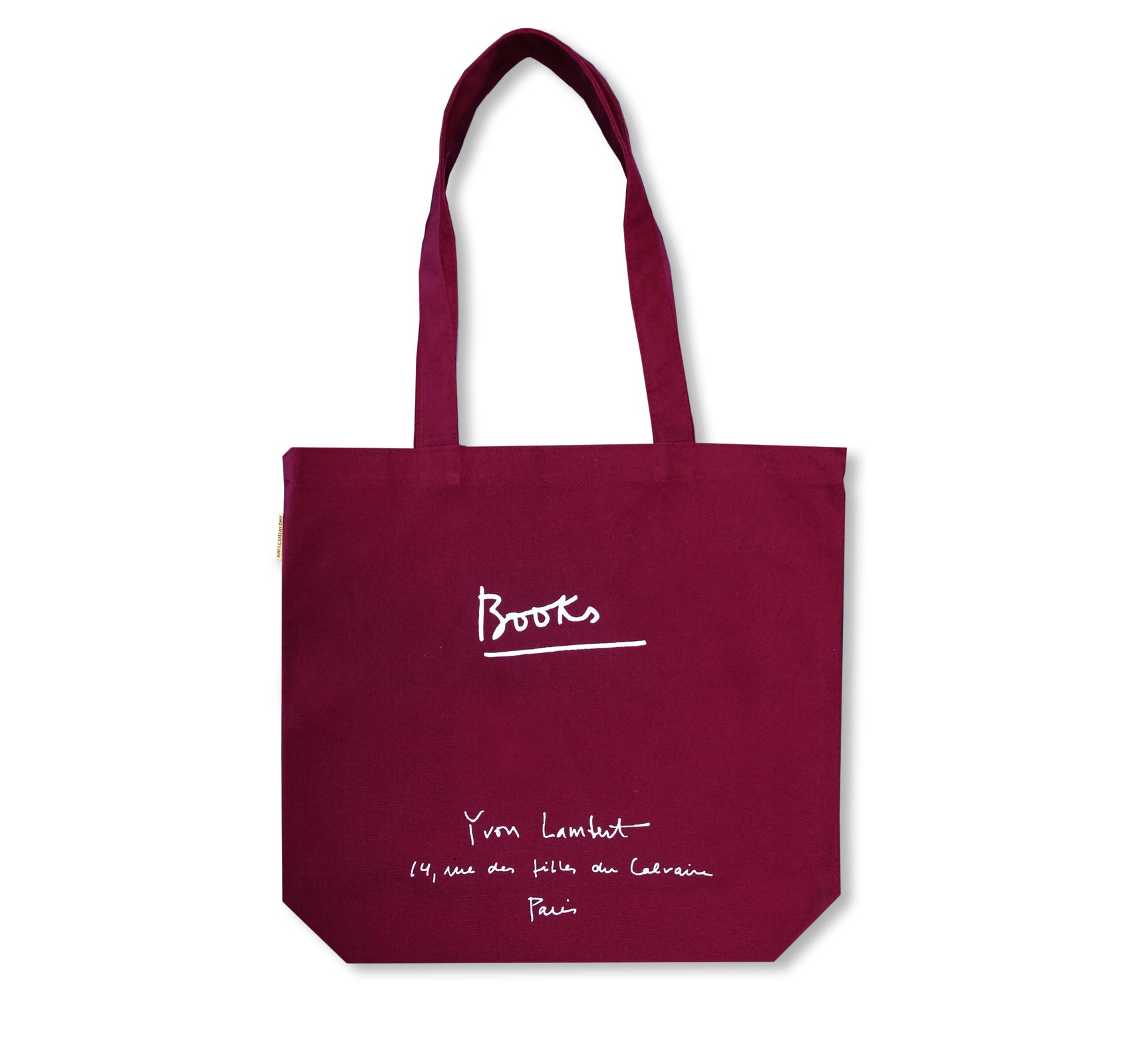 YVON LAMBERT TOTE BAG (REGULAR / BURGUNDY)