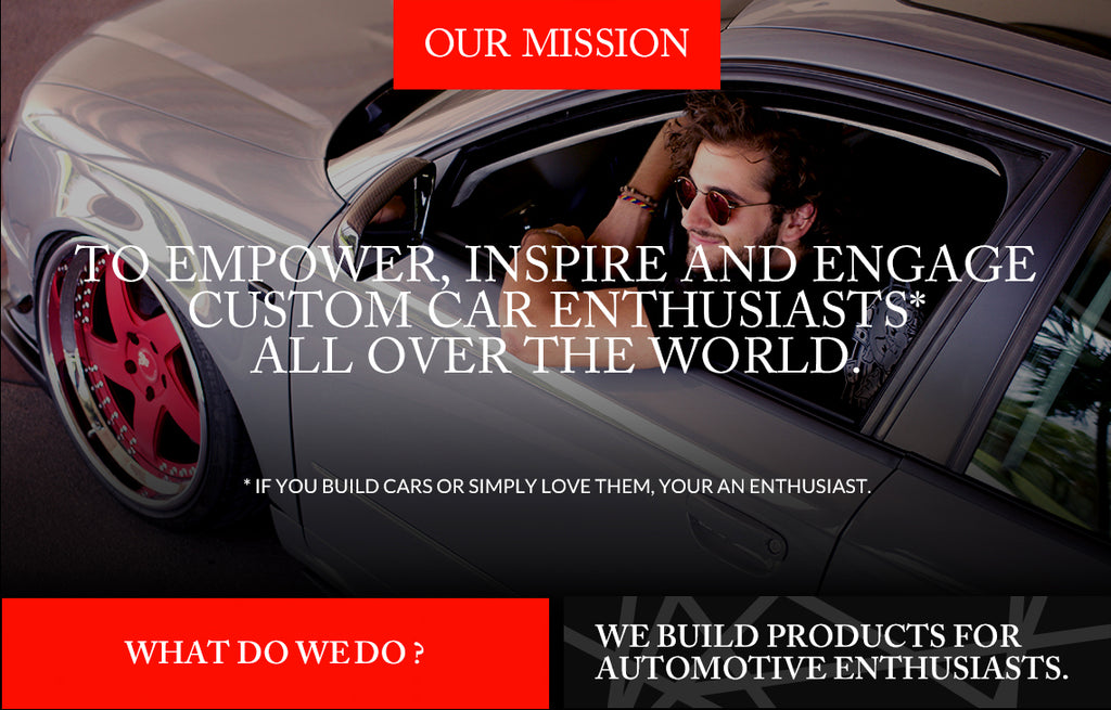 HypeStance Company Manifesto, features man in bagged car, to empower,inspire, and engage custom car enthusiasts all over the world.