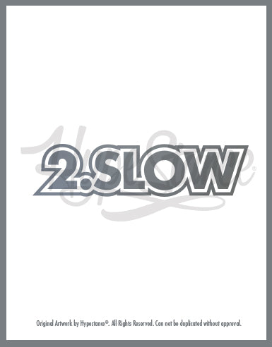 2.0 Slow Sticker Script Sticker - Hypestance, Car sticker