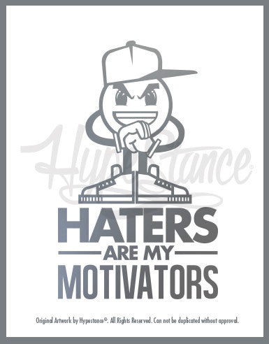 Haters are my motivators Sticker - Hypestance, Car sticker